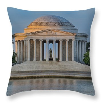 Thomas Jefferson Memorial At Sunrise Throw Pillow by Sebastian Musial