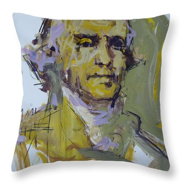 Thomas Jefferson Painting Throw Pillow