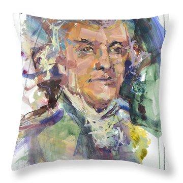 Thomas Jefferson Print Throw Pillow