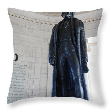 Thomas Jefferson Statue Throw Pillow