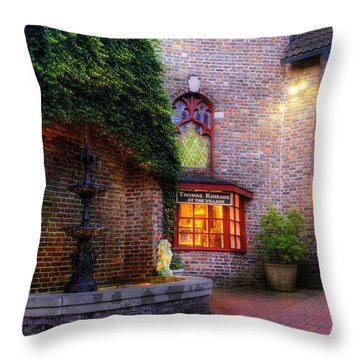 Thomas Kinkade At The Village In Gatlinburg Throw Pillow