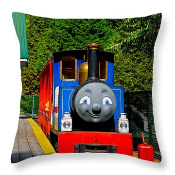 Throw Pillow featuring the photograph Thomas by Sher Nasser