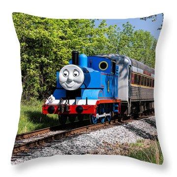 Thomas Visits The Cvnp Throw Pillow