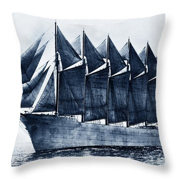 Thomas W. Lawson Seven-masted Schooner 1902 Throw Pillow