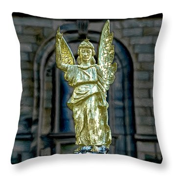 Thomas Wolfe Memorial Angel Throw Pillow