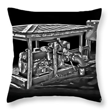 Thompson Pump 2 Throw Pillow by Walt Foegelle
