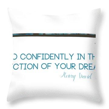 Thoreau Arrow Throw Pillow
