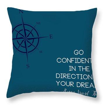 Thoreau Compass Throw Pillow