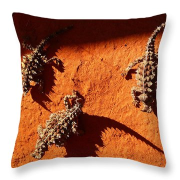 Thorny Devils Throw Pillow