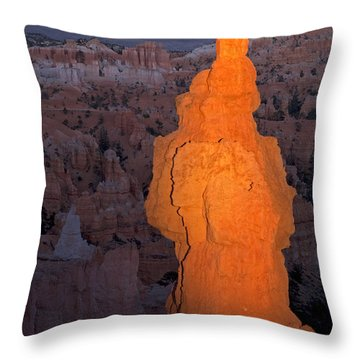 Thors Hammer Sunset Point Bryce Canyon National Park Throw Pillow