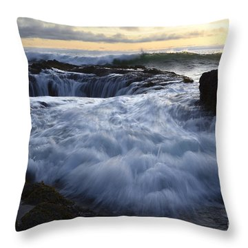 Thors Well 2 Throw Pillow by Bob Christopher