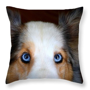 Those Eyes Throw Pillow by Kathryn Meyer