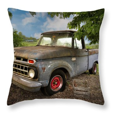 Those Were The Days Throw Pillow by Debra and Dave Vanderlaan