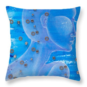 Thought Throw Pillow by Sheridan Furrer