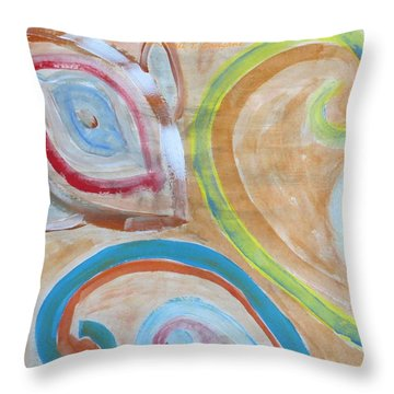 Throw Pillow featuring the painting Thought by Sonali Gangane