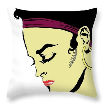 Thoughtful Woman 2 Throw Pillow