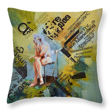 Thoughts Throw Pillow by Corporate Art Task Force