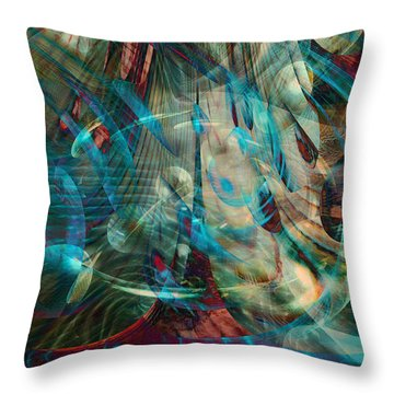 Thoughts In Motion Throw Pillow