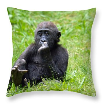 Throw Pillow featuring the photograph Thoughts by Lisa L Silva