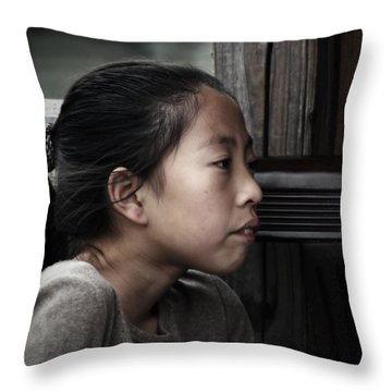 Throw Pillow featuring the photograph Thoughts by Lucinda Walter