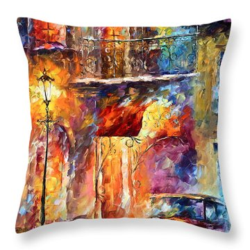 Thoughts Of My Ancestors  Throw Pillow by Leonid Afremov