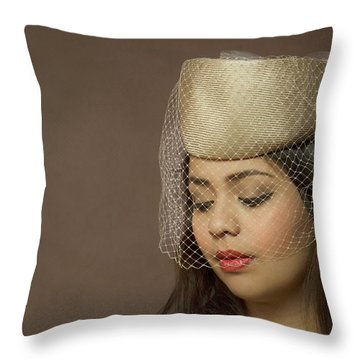 Thoughts Of Mystery Throw Pillow by Evelina Kremsdorf