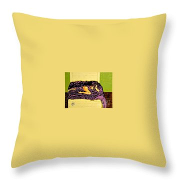 Throw Pillow featuring the painting Thoughts Of You by Jackie Carpenter