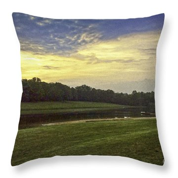 Thousand Trails Lynchburg Virginia Painting Throw Pillow by Bob and Nadine Johnston