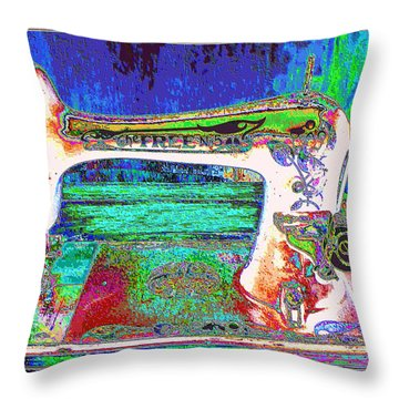 Threads Of Color Throw Pillow
