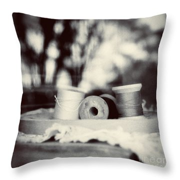 Threads Of Life  Throw Pillow by Trish Mistric