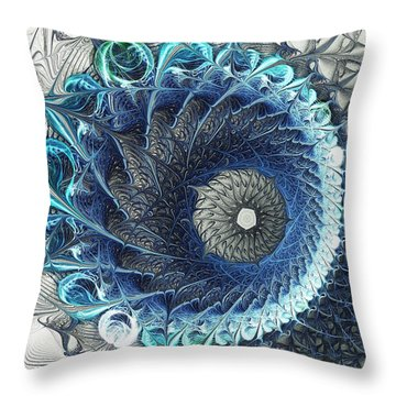 Threadwork Throw Pillow by Anastasiya Malakhova