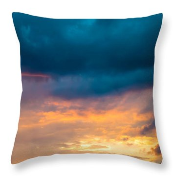 Threatening Skies At Sunset Throw Pillow by Optical Playground By MP Ray