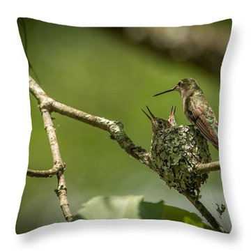 Three Beaks Throw Pillow