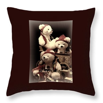 Three Bears Creative Throw Pillow by Linda Phelps
