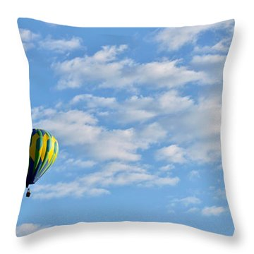 Three Beautiful Balloons In Cortez Throw Pillow