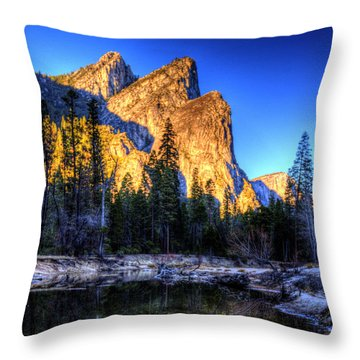 Three Brothers. Throw Pillow by Bill Gallagher