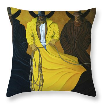 Three Brothers Throw Pillow by Lance Headlee
