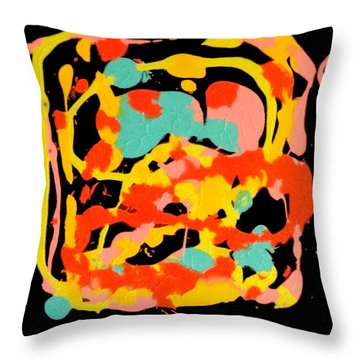 Three Carnival Throw Pillow