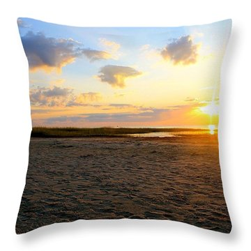 Three Clouds Throw Pillow