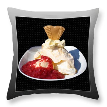 Throw Pillow featuring the photograph Three Course Meal by Terri Waters