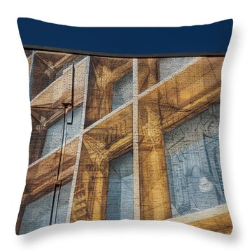 Three Dimensional Optical Illusions - Trompe L'oeil On A Brick Wall Throw Pillow