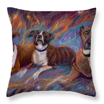 If Dogs Go To Heaven Throw Pillow by Sherry Strong