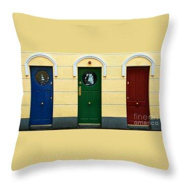 Three Doors Throw Pillow