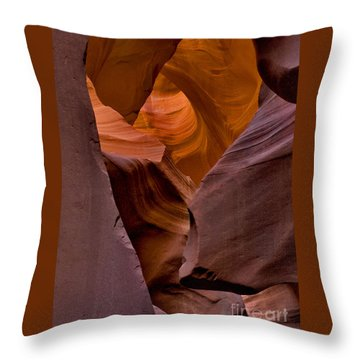Throw Pillow featuring the photograph Three Faces In Sandstone by Mae Wertz
