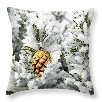Three Frosty Cones Throw Pillow by Marilyn Hunt