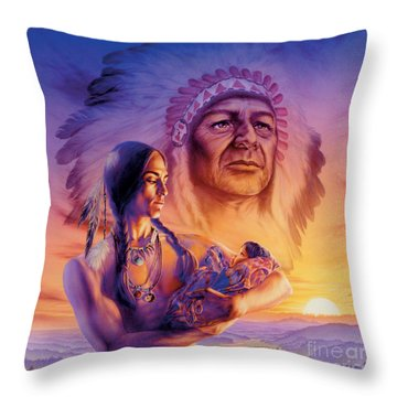 Three Generations Throw Pillow by Andrew Farley