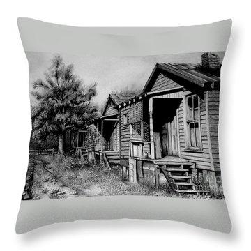 Three Graces Black And White Throw Pillow