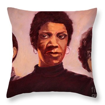Three Graces One Throw Pillow by Carrie Joy Byrnes