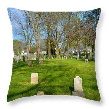 Three Gravestones Throw Pillow by Alys Caviness-Gober