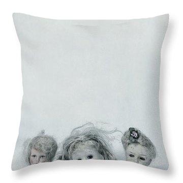 Three Heads Throw Pillow by Joana Kruse